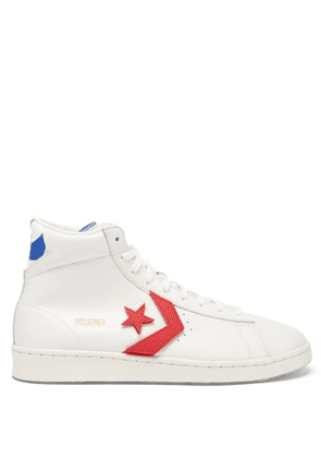 Converse - Pro Leather High-top Leather Trainers - Mens - White Multi