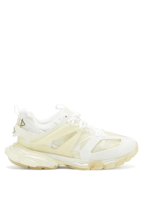 Balenciaga - Track Panelled Trainers - Mens - White Multi