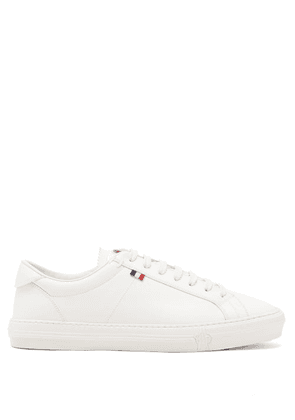 Moncler - New Monaco Leather Trainers - Mens - White