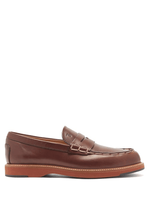 Tod's - Monteco Leather Penny Loafers - Mens - Brown