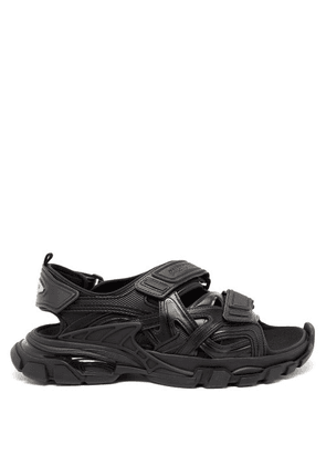 Balenciaga - Track Velcro-strap Faux-leather And Rubber Sandals - Mens - Black