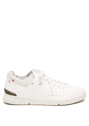 On - The Roger Centre Court Faux-leather Trainers - Mens - White