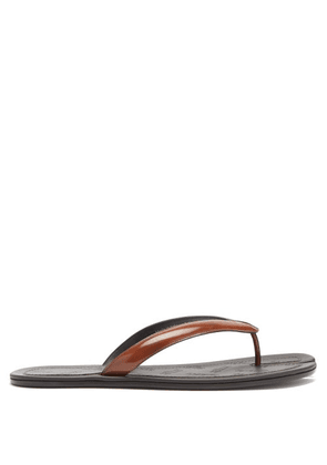 Maison Margiela - Tabi Split-toe Leather Flip Flops - Mens - Tan
