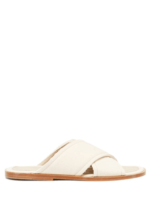 Maison Margiela - Raw-cut Canvas Sandals - Mens - Beige