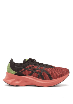 Asics - Novablast Mesh Running Trainers - Mens - Black Red
