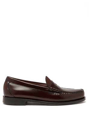 G.h. Bass & Co. - Larson Weejun Leather Penny Loafers - Mens - Burgundy