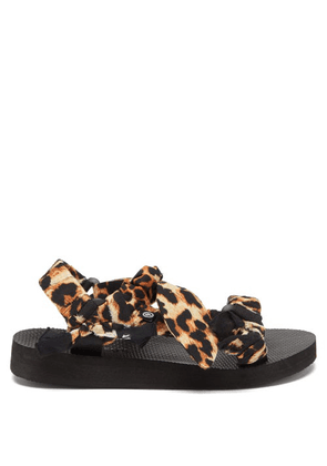 Arizona Love - Trekky Choux Bandana-trimmed Sandals - Womens - Leopard