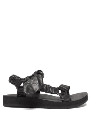 Arizona Love - Trekky Choux Bow-strap Leather Sandals - Womens - Black