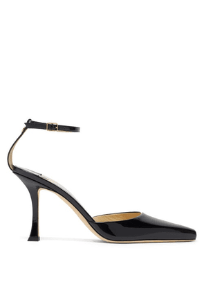 Jimmy Choo - Mair 90 Point-toe Patent-leather Pumps - Womens - Black