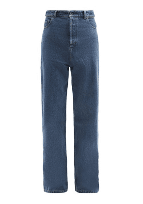 Y/Project - Evergreen Peep Show Slit-waist Jeans - Mens - Navy