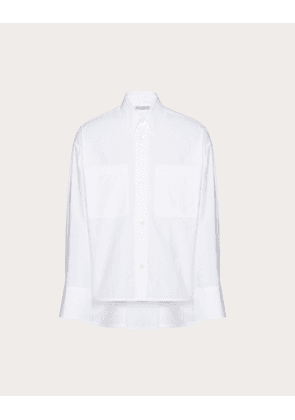 Valentino Uomo Shirt With Front Pocket And Back Pleat Man White Cotton 100% S