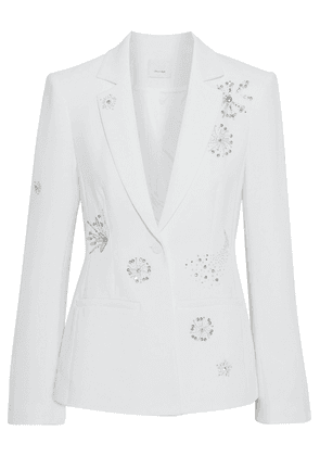 Cinq À Sept Rumi Embellished Crepe Blazer Woman White Size 4