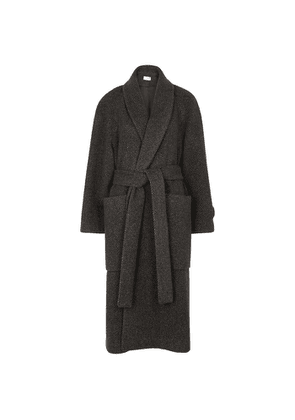 THE ROW Fiera Brown Striped Cashmere Coat