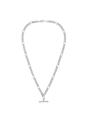 Susan Caplan Vintage 1990s Vintage Silver Plated Figaro Chain With T Bar