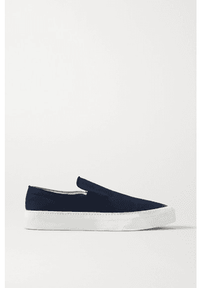The Row - Marie H Canvas Slip-on Sneakers - Navy