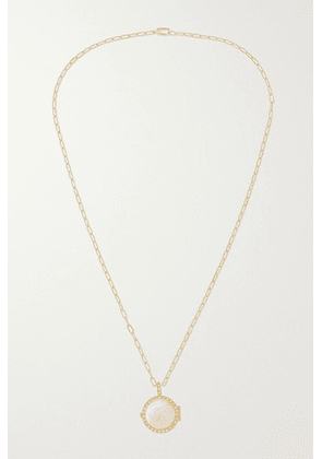 Octavia Elizabeth - + Net Sustain The Lover Locket 18-karat Recycled Gold, Mother-of-pearl And Diamond Necklace