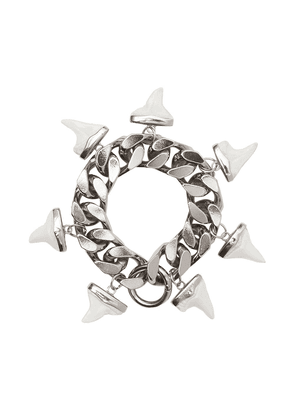 Burberry resin shark detail bracelet - Silver