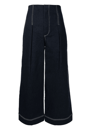 Alice McCall contrast stitching flared jeans - Blue