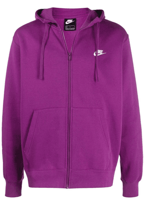Nike zip up swoosh hoodie - Purple