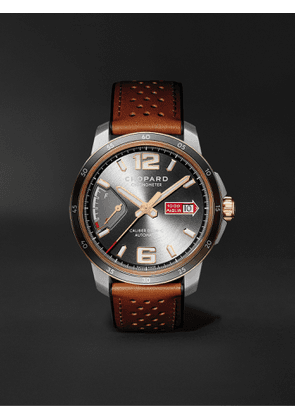 CHOPARD - Mille Miglia GTS Power Control Limited Edition Automatic 43mm, 18-Karat Rose Gold, Stainless Steel and Leather Watch, Ref. No. 168566-6001 - Men - Gray