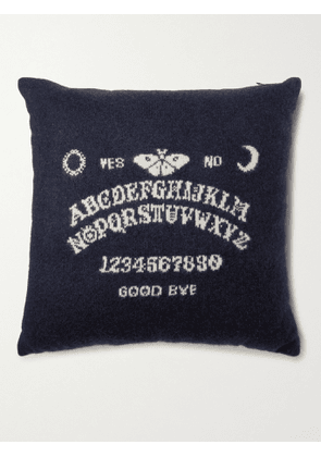 THE ELDER STATESMAN - Ouija Intarsia Cashmere Cushion - Men - Black - one size