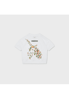 Burberry Childrens Montage Print Cotton T-shirt, White