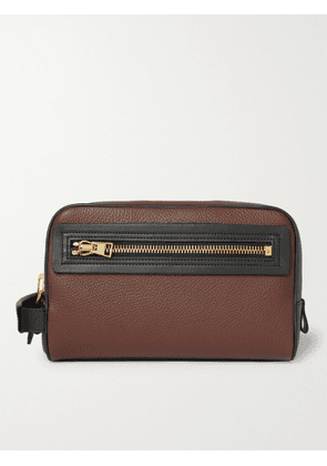 TOM FORD - Full-Grain Leather Wash Bag - Men - Brown