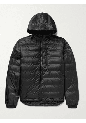 CANADA GOOSE - Lodge Packable Quilted Nylon-Ripstop Down Hooded Jacket - Men - Black