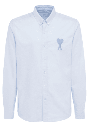 Logo Embroidered Cotton Oxford Shirt