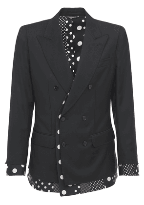 Polka Dots Wool & Silk Jacket