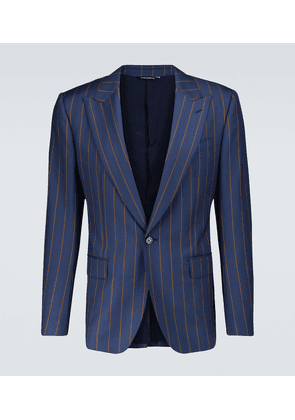 Pinstriped single-breasted blazer