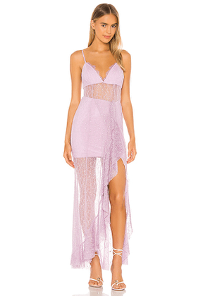 NBD Sinatra Gown in Lavender. Size XL, XS.