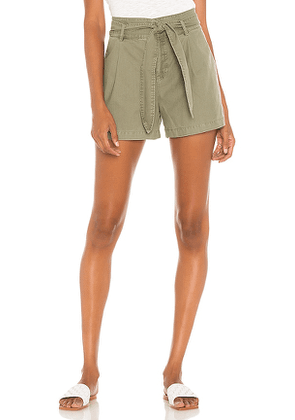 David Lerner Lexi Pleated Short in Olive. Size 2.