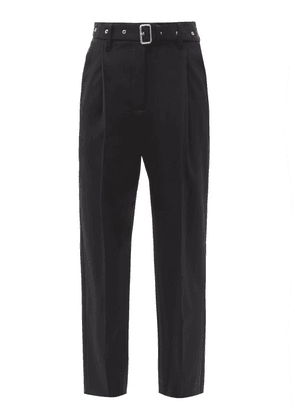 Proenza Schouler - Belted Wool-blend Tapered Trousers - Womens - Black