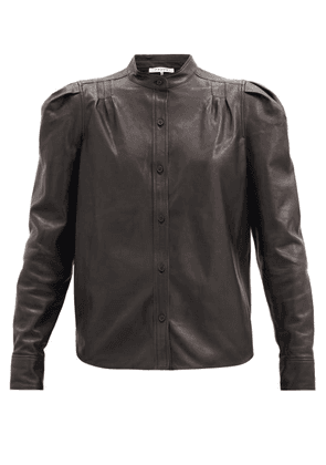 Frame - Charlie Leather Shirt - Womens - Black