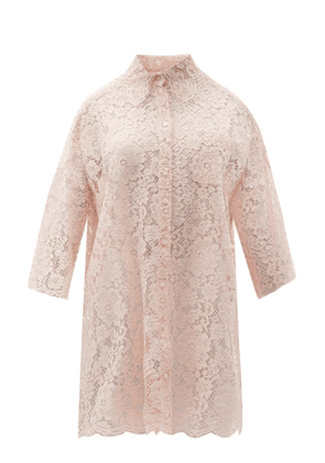 Dolce & Gabbana - Dropped-shoulder Cordonetto-lace Shirt - Womens - Light Pink