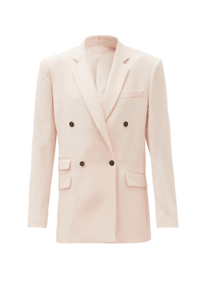 Stella Mccartney - Holden Double-breasted Wool Jacket - Womens - Light Pink