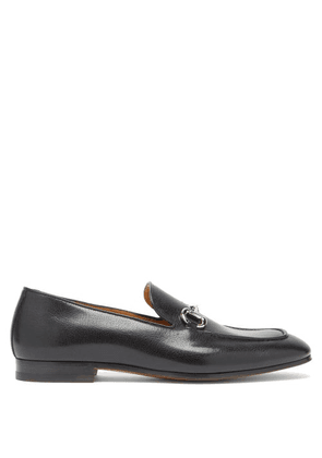 Gucci - Donnie Horsebit Leather Loafers - Mens - Black