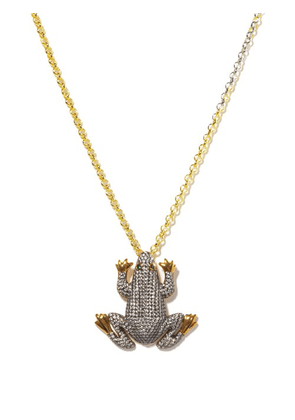 Begum Khan - Prince Frog Crystal & 24kt Gold-plated Necklace - Womens - Crystal