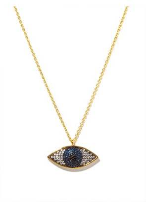 Begum Khan - Nazar Crystal & 24kt Gold-plated Necklace - Womens - Blue Multi