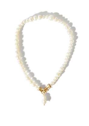 Anita Berisha - She Is Courageous 14kt Gold-plated Necklace - Womens - Pearl