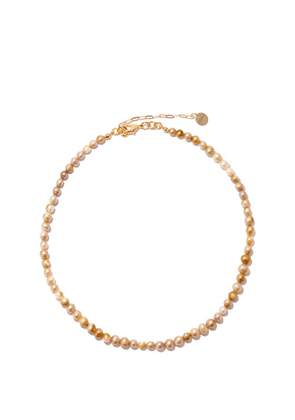 Anita Berisha - She Is Kind Pearl & 14kt Gold-plated Necklace - Womens - Pearl