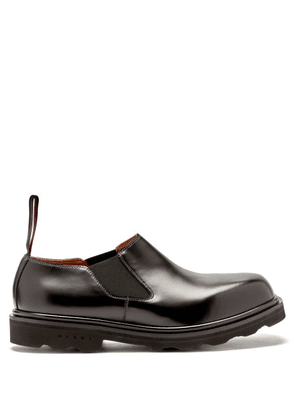 Marni - Moccasin Leather Loafers - Mens - Black
