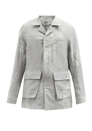 Bed J.w. Ford - Feather-jacquard Cotton-blend Jacket - Mens - Grey