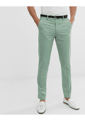 ASOS DESIGN skinny smart trousers in mint green