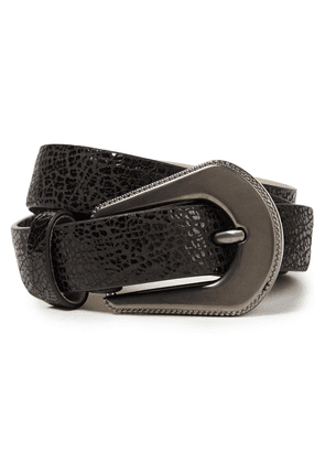 Brunello Cucinelli Cracked-leather Belt Woman Black Size M