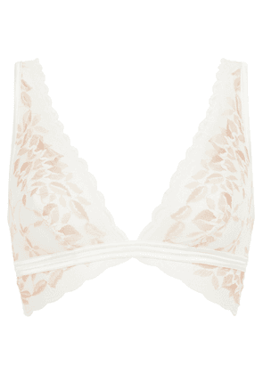 Cosabella Seymore Satin-trimmed Stretch-lace Soft-cup Triangle Bra Woman Ivory Size S