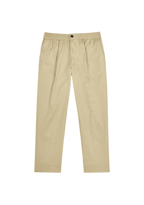 AMI Paris Sand Cropped Cotton-twill Trousers