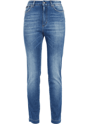 Dolce & Gabbana Faded High-rise Skinny Jeans Woman Mid denim Size 36