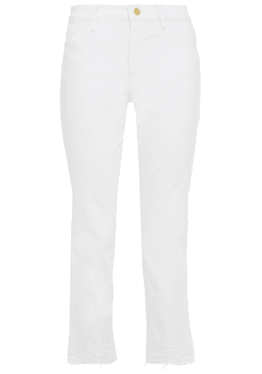 Frame Le High Straight High-rise Straight-leg Jeans Woman White Size 24